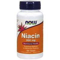 Now Foods Niacin (Niacyna) 500mg 100 tabl. - produkt farmaceutyczny