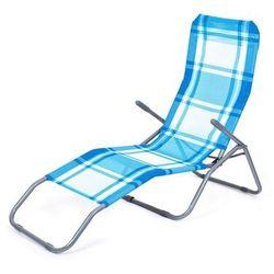 Happy Green Leżak plażowy, krata niebieski