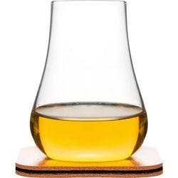 Sagaform Szklanki do whiskey ze skórzanymi podkładkami - 2 sztuki (sf-5017622) (7394150176221)