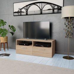 Vidaxl szafka pod tv z płyty wiórowej, 95x35x36 cm, kolor dębowy