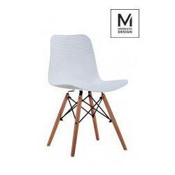 Modesto design Modesto krzesło plastikowe krado wood białe - polipropylen, podstawa bukowa (5900168801684)