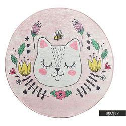 Selsey dywan do pokoju dziecięcego dinkley sofia różowy średnica 140 cm (5903025555065)