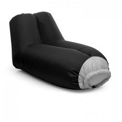 Blumfeldt Airlounge sofa dmuchana 90x80x150cm plecak do prania poliester czarna (4260509685436)