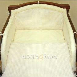 MAMO-TATO pościel 2-el Krateczka ecru do łóżeczka 60x120cm, kup u jednego z partnerów