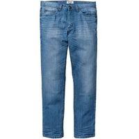 Dżinsy z kontrastową taśmą STRAIGHT bonprix średni niebieski, jeansy