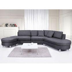 Sofa tapicerowana - kanapa z 100% poliestru szara - COPENHAGEN (sofa)