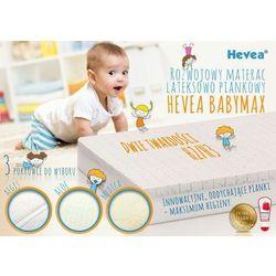 Dziecięcy materac piankowy wysokoelastyczny Hevea Baby Max 70x130