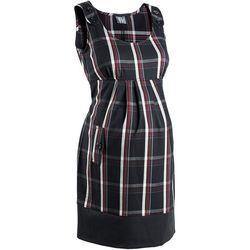 Sukienka ciążowa biznesowa, w kratę bonprix czarno-ciemnoczerwony w kratę, kup u jednego z partnerów
