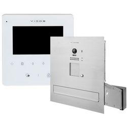 Zestaw wideodomofonu cyfrowego skrzynka na listy s1201a-skm m1022w-2 marki Vidos