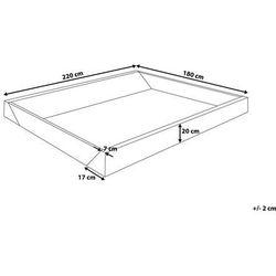 Beliani Rama piankowa do łóżka wodnego 180x220cm