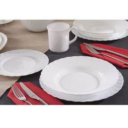 Luminarc trianon white serwis obiadowy 24/6