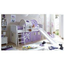 Ticaa łóżko ze zjeżdżalnią ekki sosna white country koń kolor fioletowy/beżowy wyprodukowany przez Ticaa kindermöbel