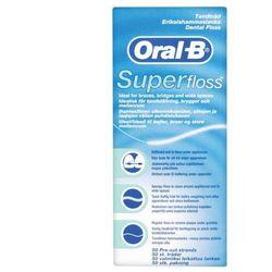 Oral b nić dentystyczna super floss 50 odcinków wyprodukowany przez Braun oral-b