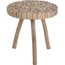 Home styling collection Stolik okazjonalny, kawowy z drewna tekowego Ø 50 cm (8719202738490)