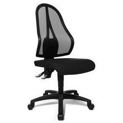 Obrotowe krzesło biurowe,czarne oparcie siatkowe, bez poręczy