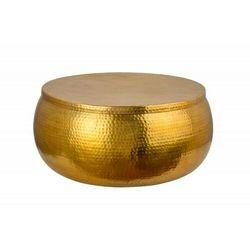 Sofa.pl Invicta stolik kawowy orient storage - 70cm, złoty, metal, aluminium