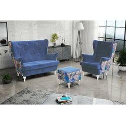 """Zestaw """"RIKI"""" sofa + fotel+podnóżek - pastelowa zieleń"""