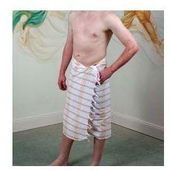 Sauna Łażnia - Hammam Ręcznik 100% Bawełna biały krata UST2