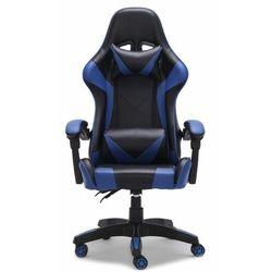 Topeshop Fotel gamingowy, biurowy, obrotowy, remus, niebieski (5902838469514)