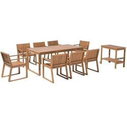 Zestaw ogrodowy drewno akacjowe 6-osobowy SASSARI (4260586356519)