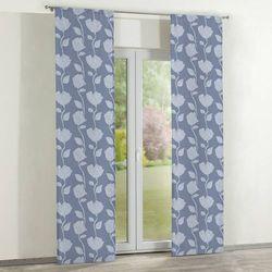 zasłony panelowe 2 szt., wzór roślinny na niebiesko-szarym tle, 60 × 260 cm, venice marki Dekoria