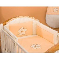 MAMO-TATO pościel 2-el Miś z serduszkiem brzoskwiniowy do łóżeczka 70x140cm z kategorii komplety pościeli dla dzieci