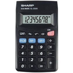 Kalkulator SHARP Handheld Blister SH-EL233SBBK Czarny (4974019023601)