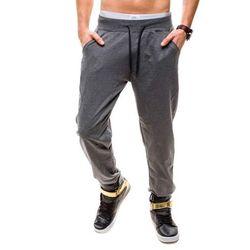 Antracytowe spodnie dresowe baggy męskie Denley 3809 - ANTRACYTOWY, kolor szary