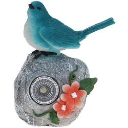 Progarden Lampa solarna 11 cm ptaszek niebieski - niebieski