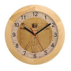 Zegar drewniany solid Leonardo