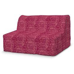 pokrowiec na sofę lycksele prosty, bordowe wzory, sofa lycksele, mirella marki Dekoria