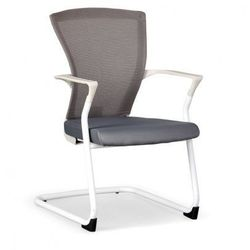 Krzesło konferencyjne bret, biało/ szare marki B2b partner
