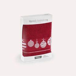 Ręcznik Bombki 50x90 Zwoltex burgund PREMIUM, 5420
