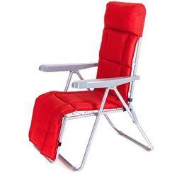Happy Green krzesło ogrodowe składane MANILLA 74 x 57 x 106 cm, z oparciem na nogi, czerwone (8591022461426)