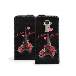 Flip Fantastic - LG G4 Stylus - etui na telefon Flip Fantastic - wieża Eiffla i róże - produkt z kategorii-