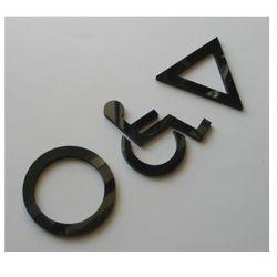 WC, piktogramy, symbole, znaki ubikacji z plexy, towar z kategorii: Akcesoria do drzwi