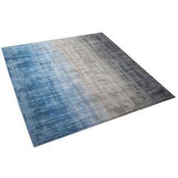 Dywan szaro-niebieski 200 x 200 cm krótkowłosy ERCIS
