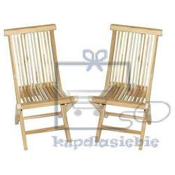 Garthen Składane krzesła divero z drewna tekowego 2 szt.
