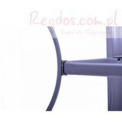 Stół ogrodowy szklany - Stolik metalowy - 150 x 89 x 72 cm z kategorii Stoły ogrodowe