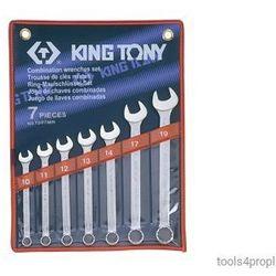 ZESTAW KLUCZY PŁASKO-OCZKOWYCH 7cz. 10 - 19mm King Tony 1207MR (4710591932036)