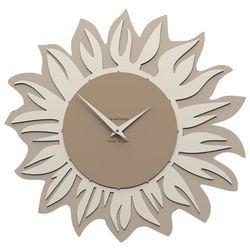 Zegar ścienny Sunflower CalleaDesign caffelatte, kolor żółty