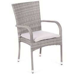 Krzesło technorattanowe mori basic grey z poduszką marki Home&garden