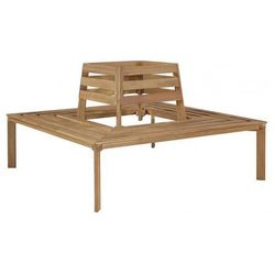 Drewniana ławka pod pień drzewa stilm - brązowa marki Producent: elior