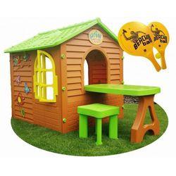 Domek ogrodowy ze stolikiem