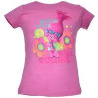 Licencja - inne T-shirt z wizerunkiem bohaterów bajki trolls - różowy ||kolorowy