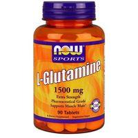 Now foods l-glutamina 1500mg 90 tabl. marki Now foods, usa