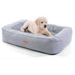 Brunolie bruno, legowisko/kosz dla psa, możliwość prania, ortopedyczne, antypoślizgowe, oddychające, pianka z pamięcią kształtu, rozmiar m (80 x 17 x 55 cm)