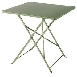Stół GoodHome Saba 70 x 70 x 70 cm zielony, kolor zielony