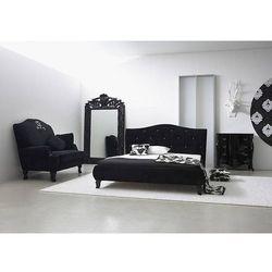 Czarne łózko z kryształkami Svarowskiego MILA - jak aksamit