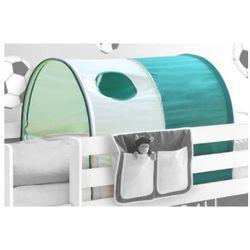 TICAA Tunel do łóżek piętrowych kolor ciemnozielony-bialy (Goal) - sprawdź w wybranym sklepie